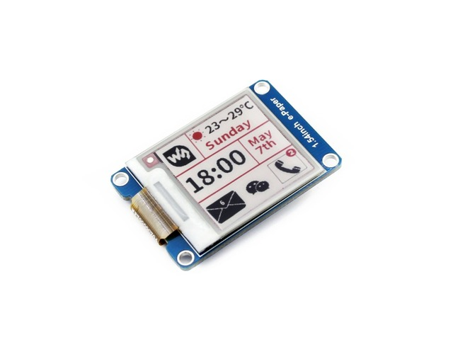 Waveshare 200x200 1.54inch E-Ink display module red/white/black three color e-paper for Raspberry Pi / STM32 SPI interface