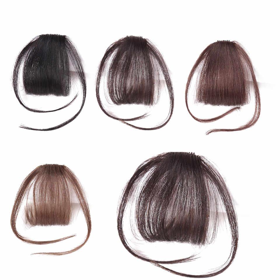 Имитация челок заколка для волос черный коричневый блонд синтетические челки для наращивания волос для женщин DIFEI