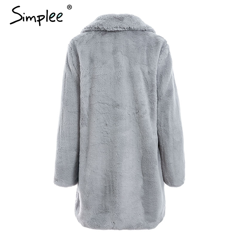 women gray fur coat