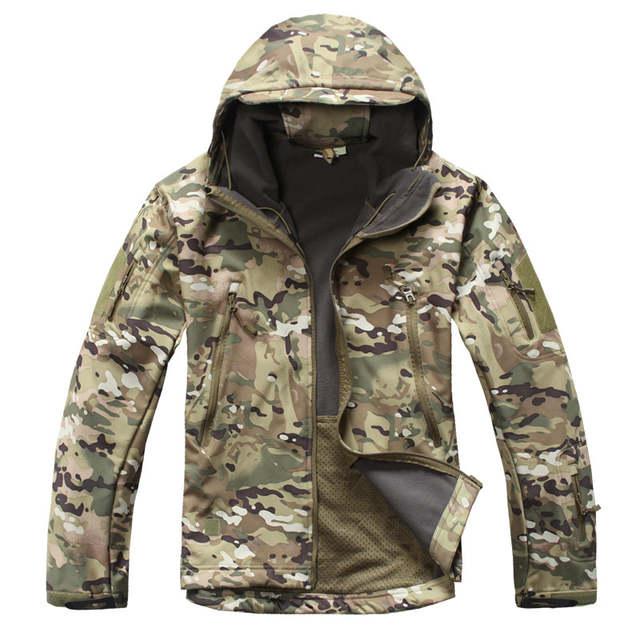 US $32.98 20% OFF|TACVASEN Armee Camouflage Männer Jacke Militärische Taktische Jacke Männer Fleece Softshell Wasserdicht Winddicht Jagd Airsoft Jacke