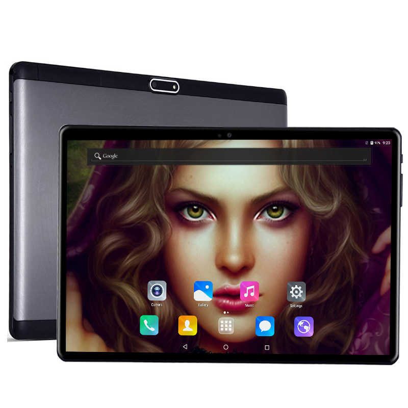 2.5D Kaca Tempered 10 Inch Tablet PC Android 7.0 4G LTE 10 Core 4GB RAM 32GB ROM HD 1920*1200 IPS Bluetooth WIFI GPS + Keyboard