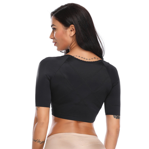 Image 2 - Frauen Oberen Arm Kompression Ärmeln Post Chirurgie Top Körper Former Haltung Corrector Crop Top Arm Shapers