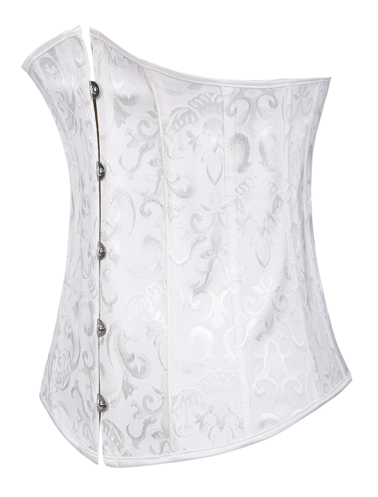 White Bridal Corsets Lace Up Women;s Waist Trainer Corsets