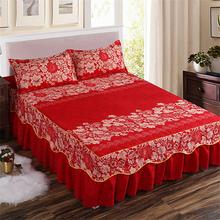 Tekstylia domowe narzuta na łóżko europejski styl narzuta na łóżko z poliestru bawełniane spódnice kwiaty kolorowe prześcieradła 150x200cm rozmiar królowej tanie tanio mtuove Drukowane Domu Hotel Other 100tc PLANT Poliester bawełna Bed Skirt