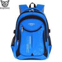 BAIJIAWEI Oxford Children School Bags Reflective Design Teenagers Backpacks Primary School Bags Travel Waterproof Schoolbag