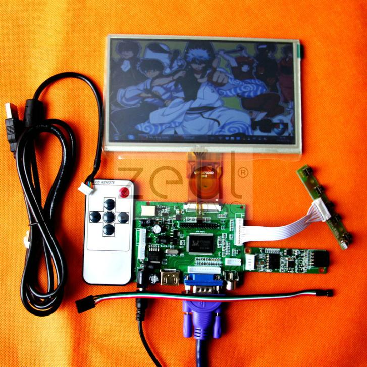 HDMI/VGA/2AV+Driver Board+Touch Screen+Touch Screen Controller+7  800*480 LCD Display for car DVD