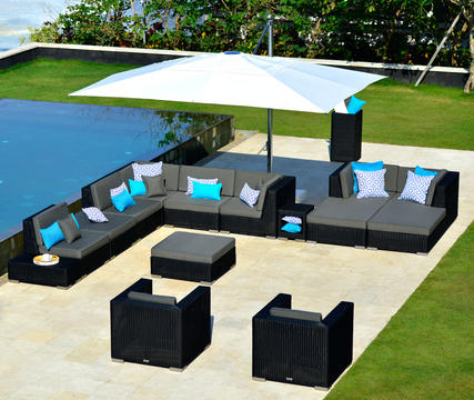 2017 Hot Sale Round Rattan Outdoor Bench Garden Line Patio Furniture(China  (Mainland)