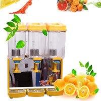 Бесплатная доставка Коммерческие холодный напиток дозатор, 17l * 3 горячей и холодной блендер, triplex самопомощи холодный напиток машина, сок ра