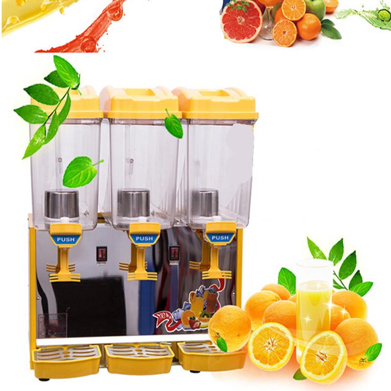 Free shipping Commercial cold drink dispenser,17L*3 Hot and cold blender,triplex Self-help cold drink machine,juice dispenser free shipping commerical use 3 in 1 automatic coffee vending machine hot drink dispenser machine