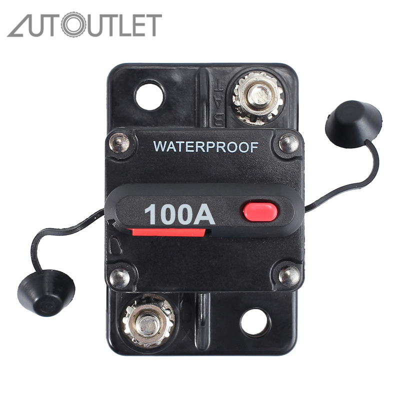 80amp 12volt Circuit Breaker Resettable Car Solar Audio Marine Fuse 80A