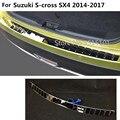 Автомобильная накладка на задний бампер из нержавеющей стали Накладка на багажник 1 шт. для Suzuki S-cross scross SX4 2014 2015 2016 2017