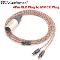 GUcraftsman 6N OCC медь SRH1440 SRH1540 SRH1840 4Pin XLR 2,5 мм/4,4 мм Баланс кабель для наушников