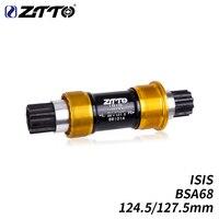 ZTTO Bike Studien ISIS Tretlager 124 5mm 127 5mm BSA68 10 gewinde fahrrad BB für BMX Bike trial Stahl achse BB spindel-in Tretlager aus Sport und Unterhaltung bei