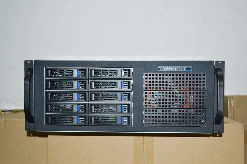 4U4410 10 disk hot plug server cabinet industrial control storage VODKTV multi hard disk box 5208 73p8005 73p8017 300g 10k fc ds4300 server hard disk one year warranty