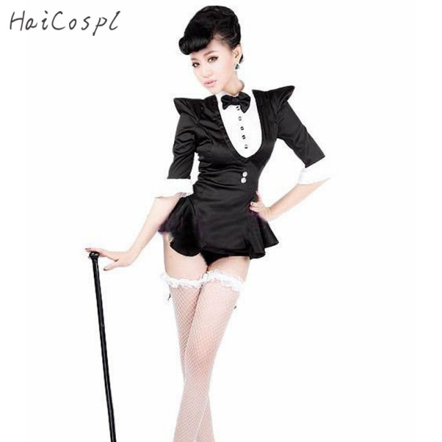 Magician Costume For Girl Tuxedo Cosplay Adult Female Jazz -9031