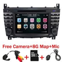 цена на 7 Inch 2 Din Car DVD Player For Mercedes-Benz/W203/W209/W169/W219/A-Class/A160/C-Class/C180/C200/CLK200/CLK350 Radio GPS BT