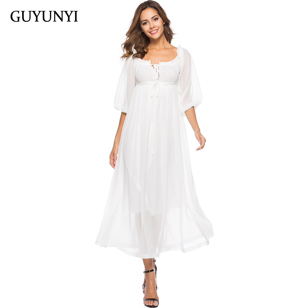 b80a1e60049 White Summer Beach Maxi Dress - Data Dynamic AG