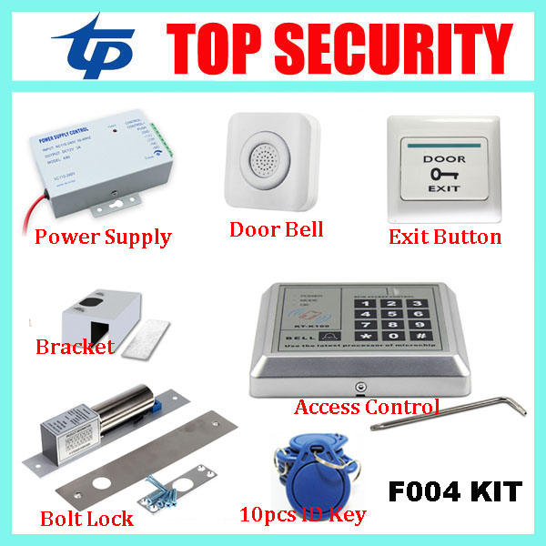Top Security F004 Proximity RFID card door access controller DIY 125KHZ EM card door access control system smart card reader smart card reader door access control system 125khz smart rfid card proximity card door access control reader 10pcs rfid keys