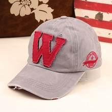 Algodón bordado letra W gorra de béisbol mujeres Snapback gorras sombrero  deportes apenada estilo de uso 3d63303ce08