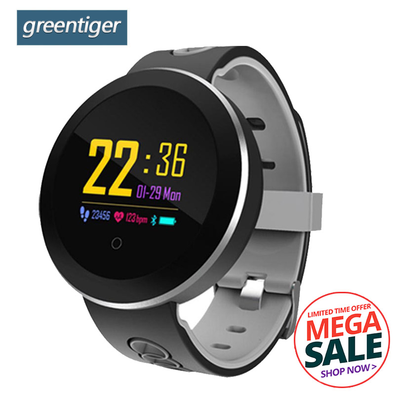 Greentiger Q8 Pro Smartwatch Fitness Tracker tempered glass Smart Watch IP68 Waterproof Heart Rate Monitor Smart Bracelet colmi v11 smart watch ip67 waterproof tempered glass activity fitness tracker heart rate monitor brim men women smartwatch