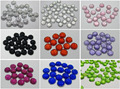 500 mixed color Acrylic Round Flatback Dotted Rhinestone Beads 6mm
