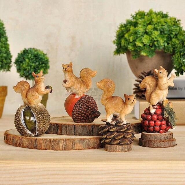 Wohnzimmer Tv Schrank Dekoration Kreative Büro Decor Von Einrichtungs  Simulation Tier Eichhörnchen Mit Muttern Figur