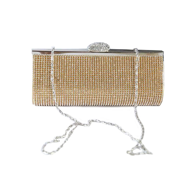 Full Luxury Diamond Evening Bags 2016 New Gold Silver Clutch Bag Women Wedding Bridal Handbag Purse party rhinestone clutches