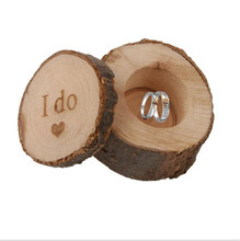 I Do Wooden Ring Box Rustic Country Wedding Ring Holder