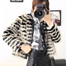 Free shipping fashion New arrival winter 2016 raccoon fur coat short dress haining leather lady s