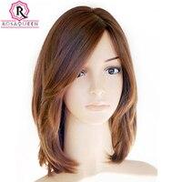 Kosher Jewish Wig European Virgin Hair Straight Human Hair Wigs Silk Top Side Bangs Sheitel Wig Free Shipping Dolago Hair