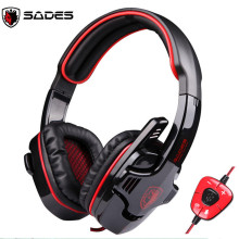 Original SADES SA-901 Stereo 7.1 Surround Sound Effect Hifi Headset USB Gmaing Headphone with MIC Volume Control for PC Gamer