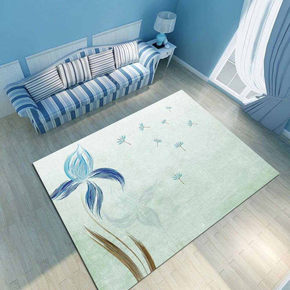 Nordique Simple tapis moderne chambre tapis thé Table chevet impression personnalisée matelas nordique décoration maison bébé
