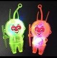 Новый красочный светящийся maomao обезьяна мяч вентиляционные декомпрессии ву пустой флэш-мяч Мягкий резиновый звонок мяч игрушки для детей