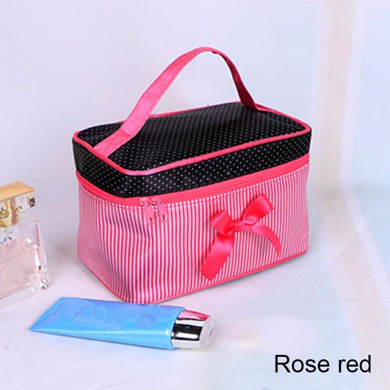 Bilden Fällen Teile Praticle 50 Platz Streifen Cosmrtic Tasche Frische Damen Schöne Taschen Mädchen Tragbare Bogen Zipper Kosmetik los ZHHdTqA6