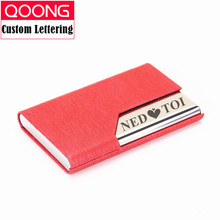 QOONG 2019 RFID Blocking Credit Card Holder Bank Cardholder Artificial Leather Business Case Classic Small Box KH1-035