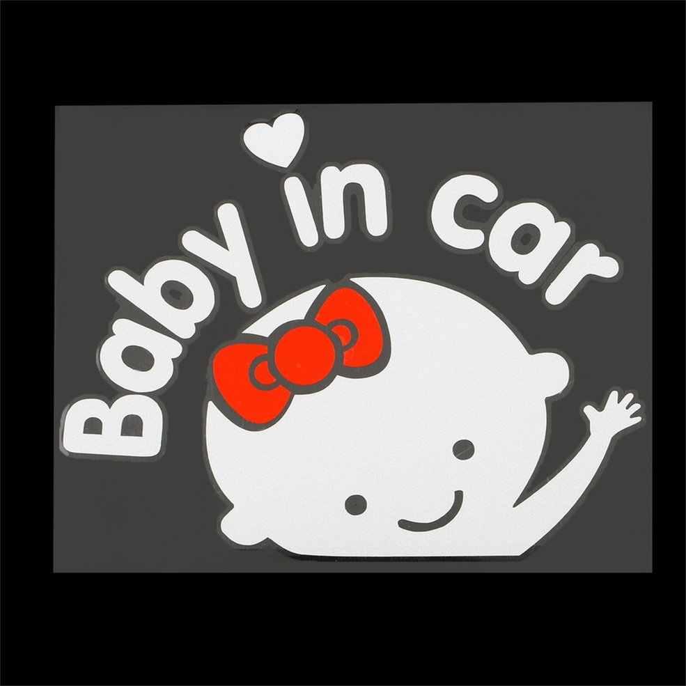 Авто 3D Мультфильм Креативный 17*14 см ребенок на доске ребенок в машине наклейка на машину Водонепроницаемая Светоотражающая Автомобильная наклейка на заднее лобовое стекло Горячая