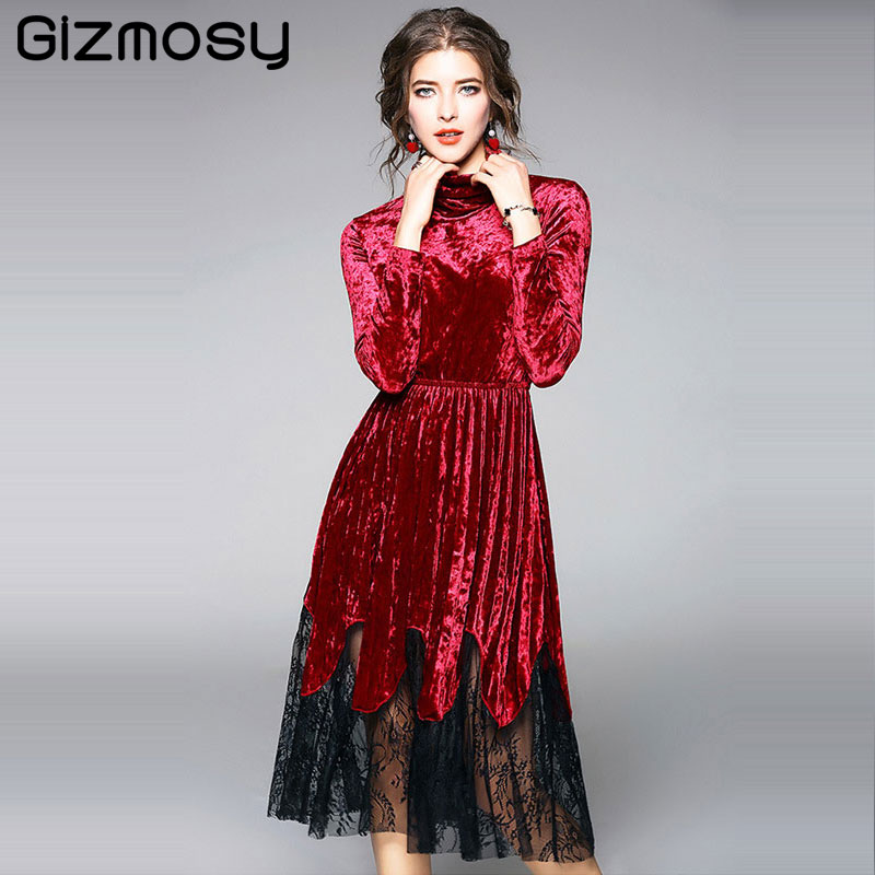 Herbst Winter T Shirt Frauen Koreanischen Stil Spitze Nähte Samt Gericht Wind Gaze Laterne Hülse Süße T-Shirt Pull shirts Tops