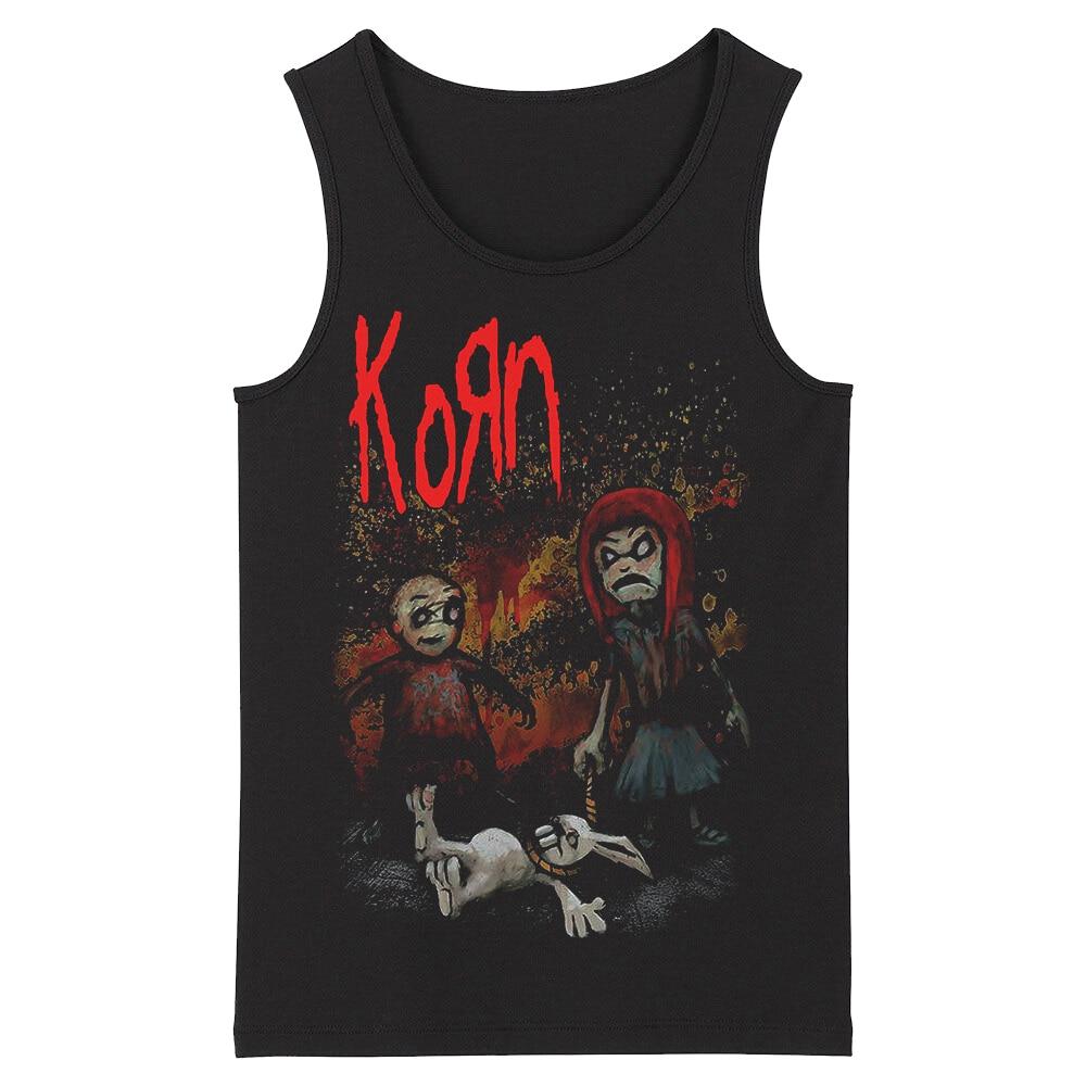 Bloodhoof Korn Grindcore HardMetal Deathcore New Men's Black Tank Tops Asian Size