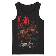 Bloodhoof Korn Grindcore HardMetal Deathcore nowe męskie czarne Tank topy rozmiar azjatycki