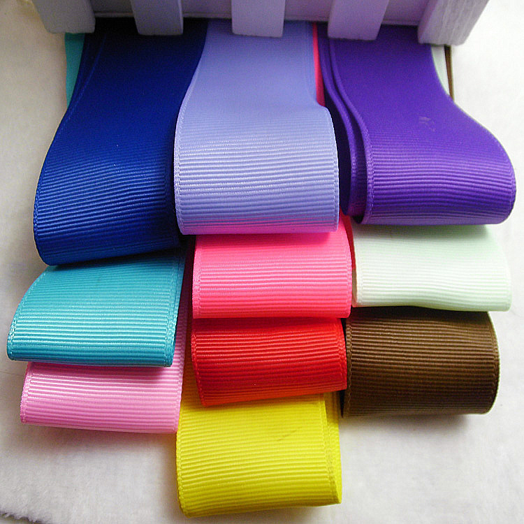 6mm 19mm 100yards roll polyester grosgrain Ribbons for hair bows hand made wedding Christmas gift decoration free shipping in Ribbons from Home Garden