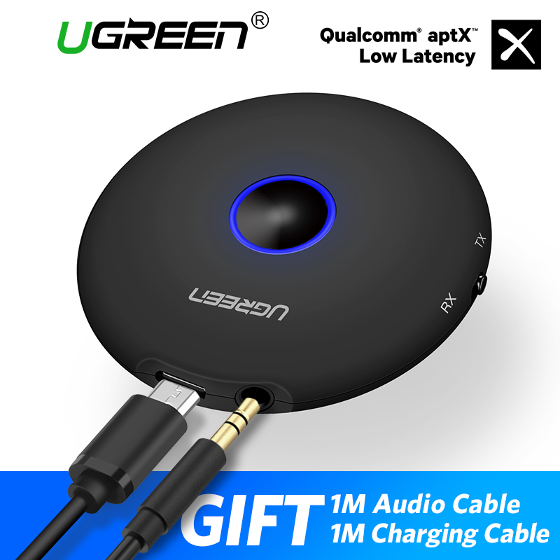 Ugreen transmisor Bluetooth 4,2 3,5mm Bluetooth APTX adaptador para TV auriculares altavoz Playstation 4 receptor Bluetooth Audio