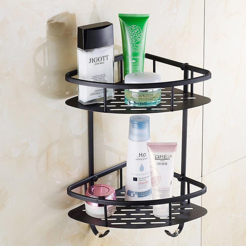 1 2 Tier Copper black triangle bathroom shelf  Retro Toilet   kitchen storage rack. Compare Prices on Black Bathroom Shelf  Online Shopping Buy Low