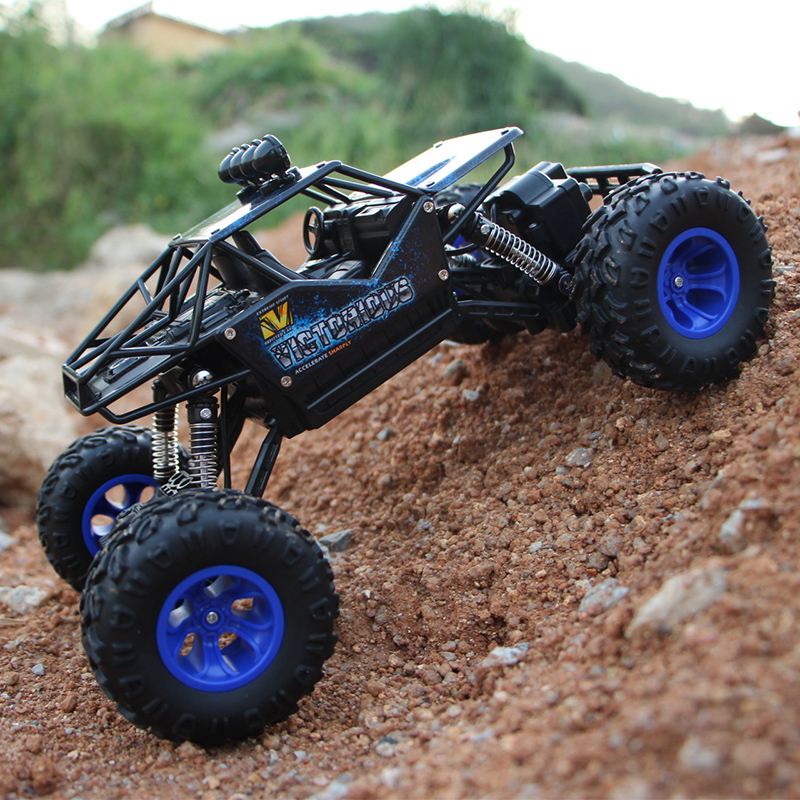 climbing rc car 4wd 24g 4ch rock crawlers rally 4x4 double motors bigfoot car remote control model off road vehicle toy kid