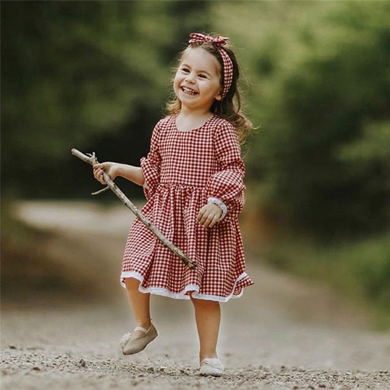 Christmas-Mother-daughter-dresses-Mom-and-me-Women-kids-girl-Cute-checkerboard-dress-elegant-Xmas-party (3)
