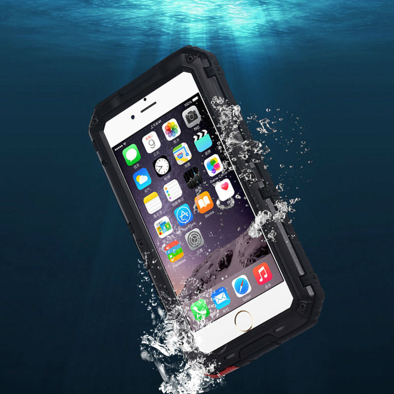 Shockproof Waterproof Heavy Duty Armor IP68 Metal Case for iPhone 5 5s Se 6 s 6s