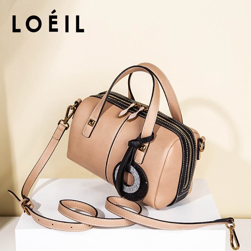 LOEIL Boston bag female 2018 new women's bag European and American fashion shoulder bag handbag female Messenger bag mitya veselkov mitya veselkov mv shine 21