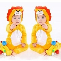 Hooyi Baby Rompers Coral Fleece Newborn Romper Lion Costumes Hoodies Jumpsuits Baby Boys Outfits Infant Clothes