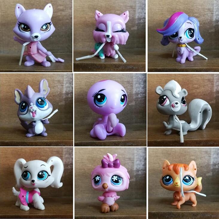 Mini Cute LPS Toys Cat Dog Products Dachshund Cocker Spaniel Short Hair Cat Rabbit Collie Pets Shops Accessories Original Toys