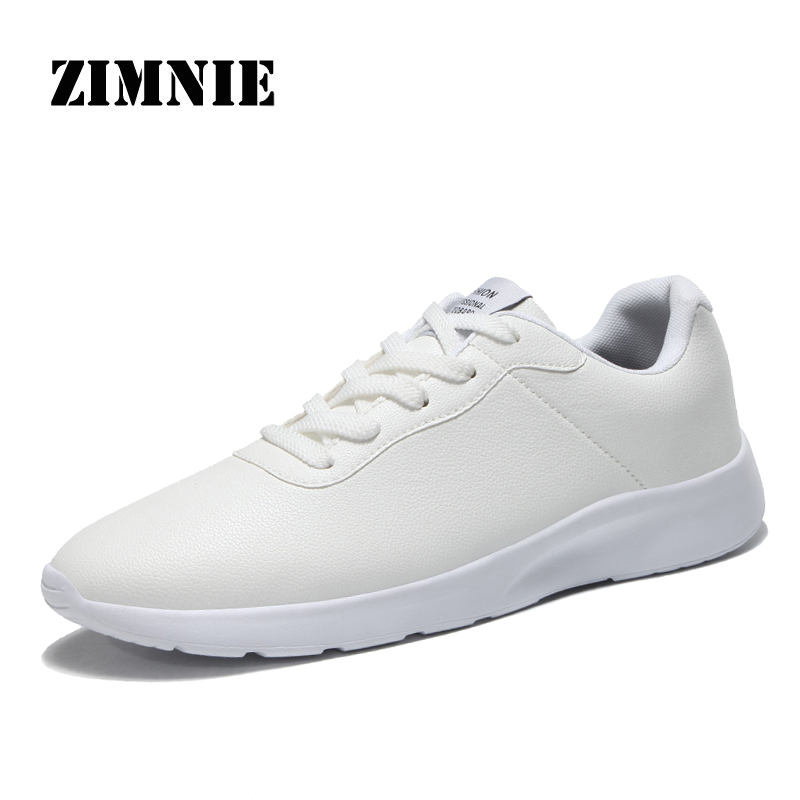 ZIMNIE Brand Cow Leather Men Shoes Men Simple Style Slip On Lace Up Casual Shoes Male High Quality Shoes Men Size 35~47