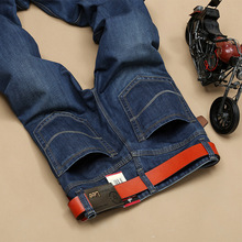 Lgnace LEE micro elastic jeans men's spring and summer business men's male pants Slim small straight 806 Large size